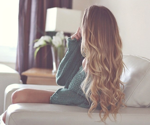 curly, fashion, and ombre image