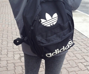adidas, black, and grunge image