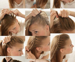 braid, hairstyle, and simple image