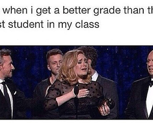 funny, Adele, and school image