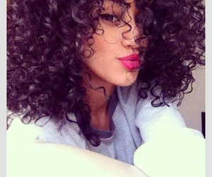 hair, curls, and beauty image