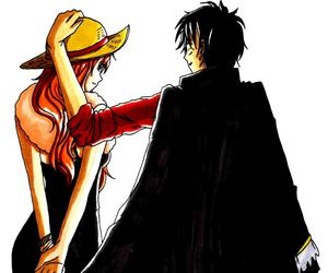 one piece, luna, and luffy image