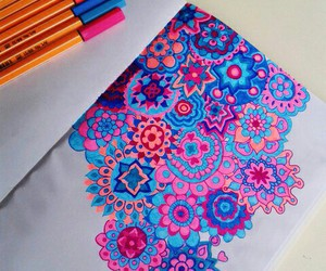 flowers, colors, and draw image