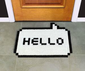 hello, door, and home image