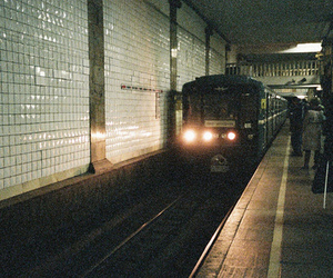 train, photography, and subway image