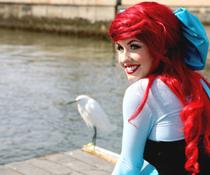 ariel, hair, and disney image