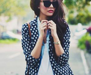 blazer, shades, and denim image