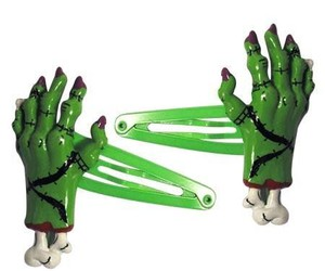 zombie and hairclips image