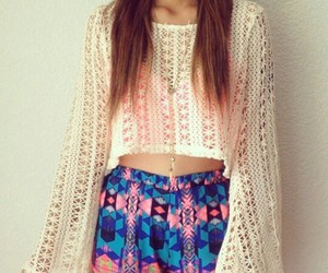 aztec, croptop, and hipster image