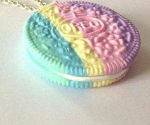 blue, cookie, and necklace image