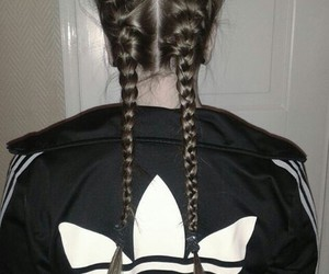 adidas, hair, and black image