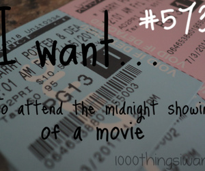 cinema, movie, and 1000 things i want image