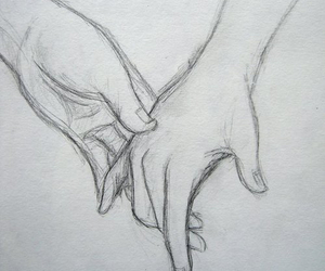 couples, drawing, and holsing hands image