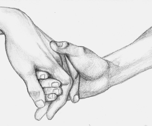 couples, drawing, and holding hands image
