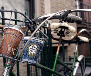 bike and coffee image
