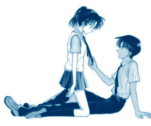 anime, anime couple, and heiji image