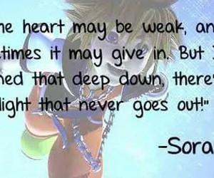kingdom hearts and sora image