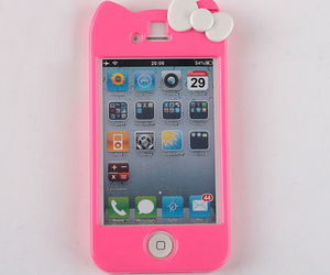 hello kitty, iphone, and pink image