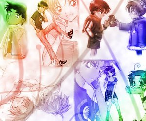 anime, anime couple, and detective conan image
