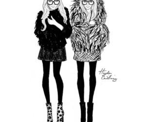 cartoon, twins, and fashion image