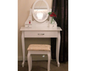 bedroom, dressing table, and fancy image