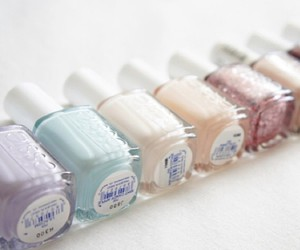 nails, pastel, and essie image
