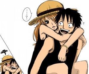 luna, luffy, and one piece image