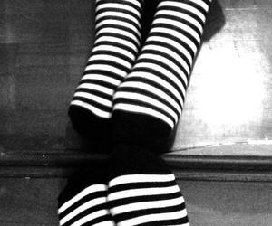 black and white, great, and socks image