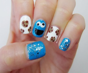 cookie, nail art, and nails image