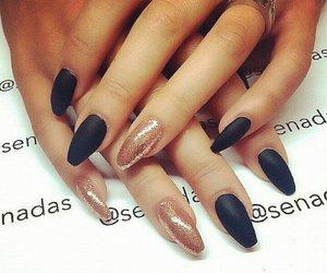 nails, nail art, and black image