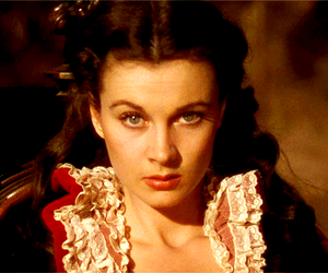Gone with the Wind, old hollywood, and Scarlett O'Hara image