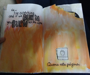 wreck this journal, hunger games, and catching fire image