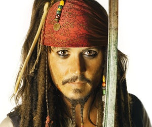 jack, johnny depp, and sparrow image