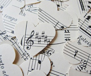 music, hearts, and heart image