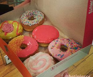 donuts, dunkin, and food image