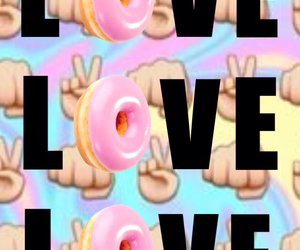 donuts and overlay image