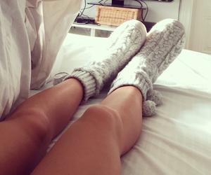cozy, nightwear, and stockings image
