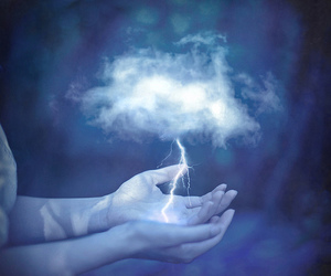 magic, clouds, and hands image