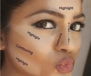 makeup, highlight, and contour image