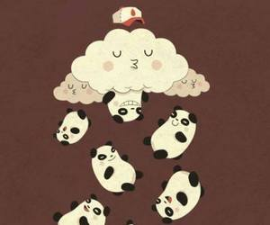 panda, bear, and kawaii image
