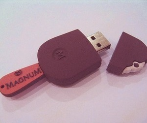 Magnum, usb, and ice cream image