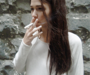 girl, cigarette, and grunge image