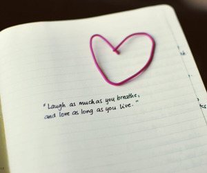 heart, laugh, and love image