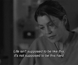 grey's anatomy, life, and meredith grey image