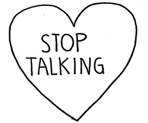 heart, stop, and talking image