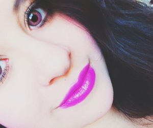 eyes, pink, and lashes image