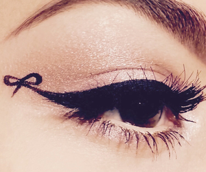 eyeliner, makeup, and cute image
