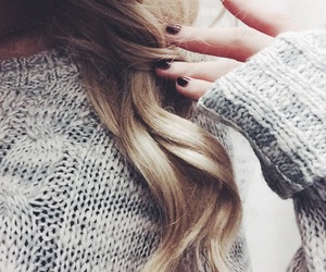 hair, nails, and sweater image
