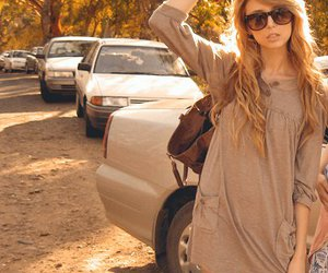 blonde, sunglasses, and girl image
