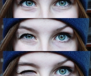 blue, eyes, and green image